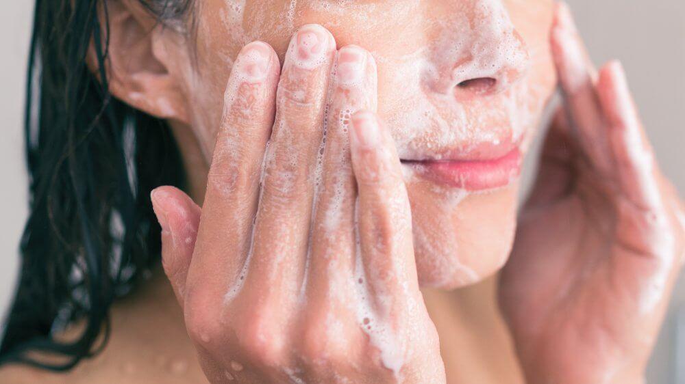 exfoliating skin in shower